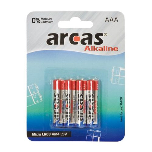 Battery Arcas Alkaline Micro AAA (4 pieces)
