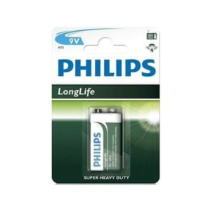 Battery Philips Longlife 9V bloc (1 pcs.)