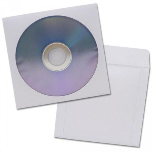 CD Papierfenstertasche mit Klappe 100 St 201140