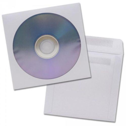 CD Papierfenstertasche ohne Klebepunkt 100 St 201070