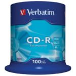 CD-R 80 Verbatim 52x DL 100er Cakebox 43411