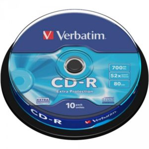 CD-R 80 Verbatim 52x DL 10er Cakebox 43437