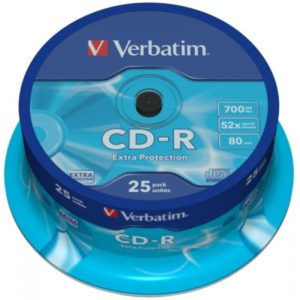CD-R 80 Verbatim 52x DL 25er Cakebox 43432
