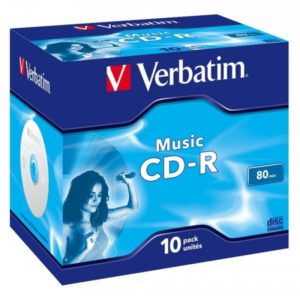 CD-R 80 Verbatim Audio 16x 10er Jewel Case 43365