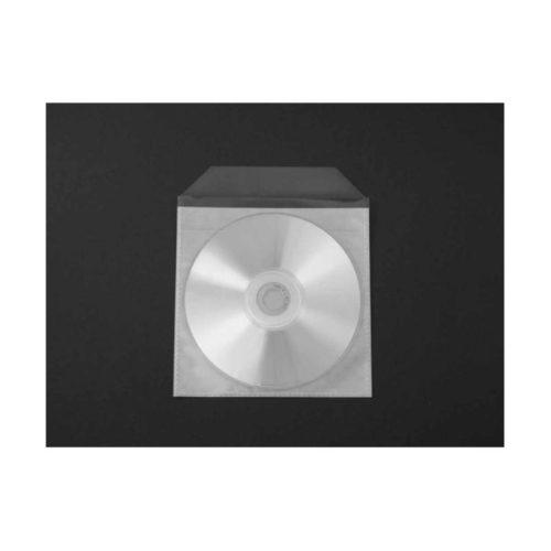 CD Tasche PP vollflächig klebend mit Klappe 100 St XS00194