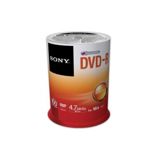 DVD-R 4.7GB Sony 16x 100er Cakebox 100DMR47SP