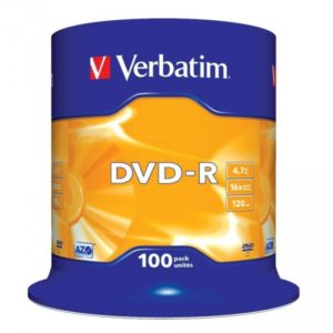 DVD-R 4.7GB Verbatim 16x 100er Cakebox 43549