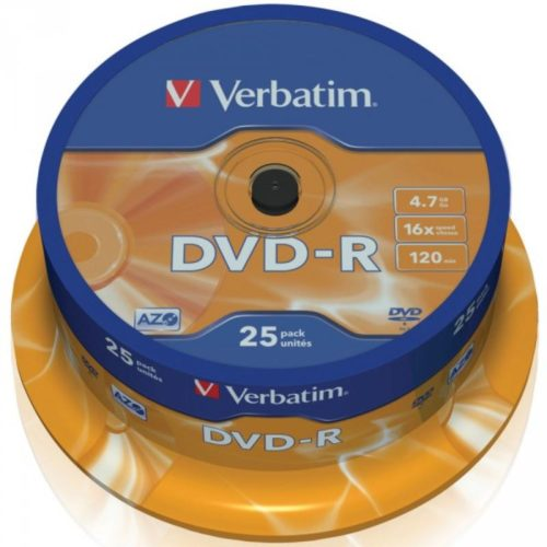 DVD-R 4.7GB Verbatim 16x 25er Cakebox 43522