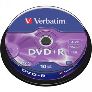DVD+R 4.7GB Verbatim 16x 10er Cakebox 43498