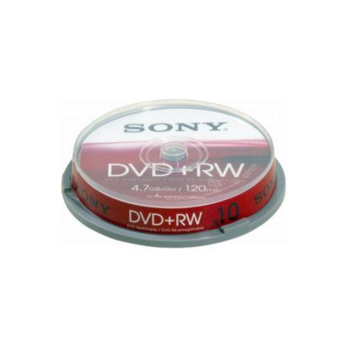 DVD+RW 4.7GB Sony 4x 10er Cakebox 10DPW47SP