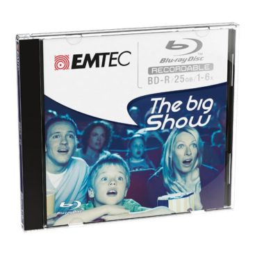EMTEC Blu-ray Disc 25GB rewritable - 5stk Jewel Case