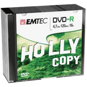 EMTEC DVD-R 4,7 GB 16x Speed - 10pcs Slim Case