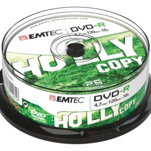 EMTEC DVD-R 4,7 GB 16x Speed - 25pcs Cake Box