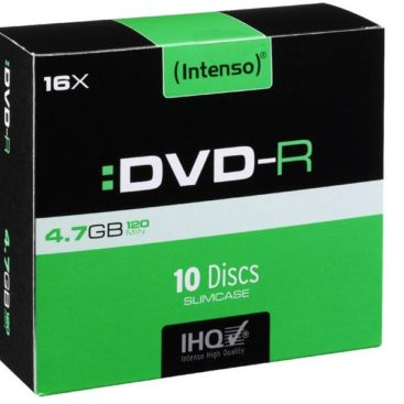 Intenso DVD-R 4,7 GB 16x Speed - 10pcs Slim Case
