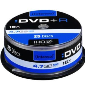 Intenso DVD+R 4,7 GB 16x Speed - 25pcs Cake Box
