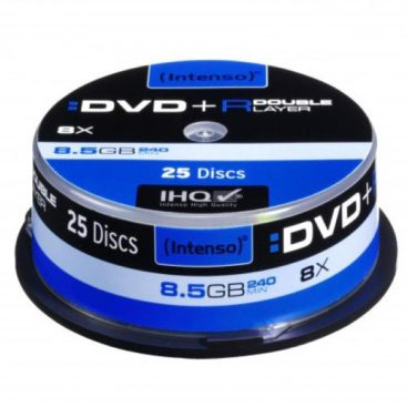 Intenso DVD+R 8,5 GB DL Double Layer 8x Speed - 25pcs Cake Box