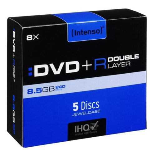 Intenso DVD+R 8,5 GB DL Double Layer 8x Speed - 5pcs JewelCase