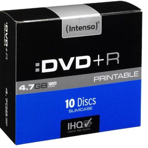 Intenso DVD+R Printable 4,7 GB 16x Speed - 10pcs Slim Case