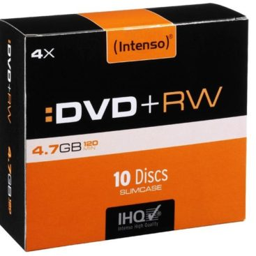 Intenso DVD+RW 4,7 GB 4x Speed - 10pcs Slim Case