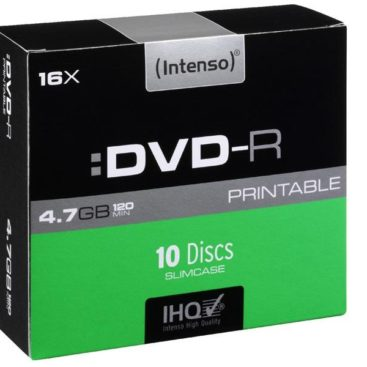 Intenso Printable DVD-R 4,7 GB 16x Speed - 10pcs Slim Case