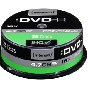 Intenso Printable DVD-R 4,7 GB 16x Speed - 25pcs Cake Box