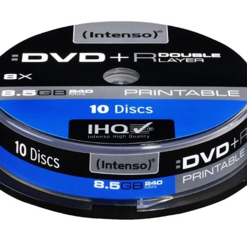 Intenso Printable DVD+R DL 8,5 GB 8x Speed - 10pcs Cake Box