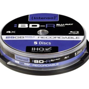 Intenso Recordable BD-R 25GB 4x Speed - 5pcs Cake Box