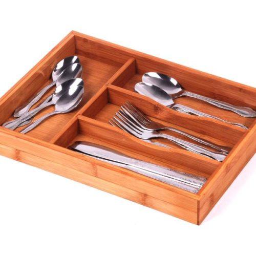 MK Bamboo BERN - 4 Division Cutlery Tray