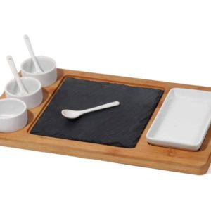 MK Bamboo DUBLIN - Chip & Dip set (9 pcs)