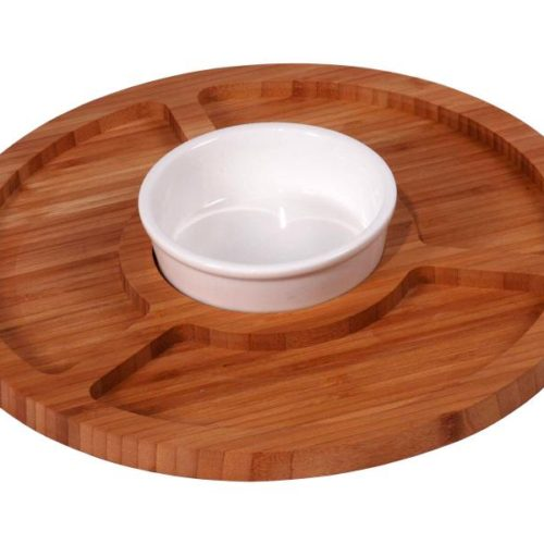 MK Bamboo GLASGOW - Chip & Dip Tray with 1 Bowl