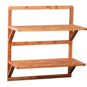 MK Bamboo OSLO - 2 tier Wall Rack