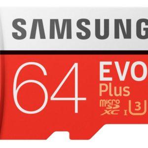 MicroSDHC 64GB Samsung +SDHC Adapter CL10 EVO Plus