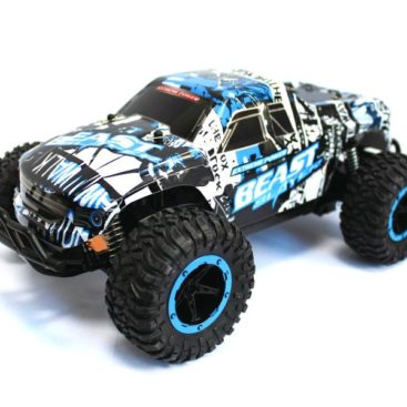 RC Monster Truck CHEETAH KING Beast 116 2.4G (black-white-blue)