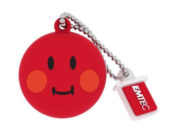 USB FlashDrive 8GB EMTEC SmileyWorld -Shame- (Red)