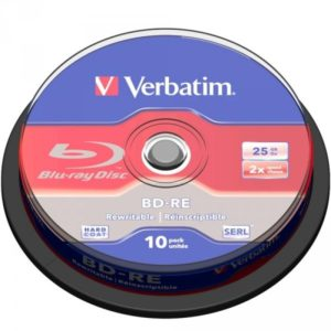 BD-RE 25GB Verbatim 2x 10er Cakebox 43694