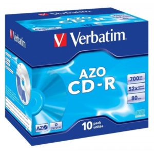 CD-R 80 Verbatim 52x DLP AZO 10er Jewel Case 43327