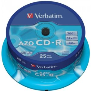 CD-R 80 Verbatim 52x DLP AZO 25er Cakebox 43352