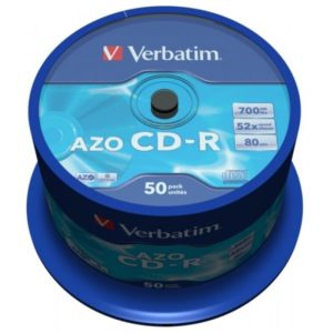 CD-R 80 Verbatim 52x DLP AZO 50er Cakebox 43343
