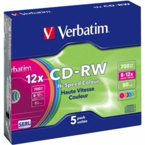 CD-RW 80 Verbatim 12x 5er Slim Case 43167