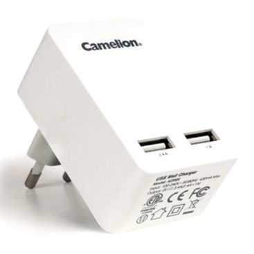 Camelion Dual USB Power Adapter White (AD569)