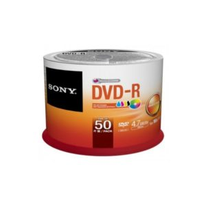 DVD-R 4.7GB Sony 16x Inkjet white 50er Cakebox 50DMR47PP
