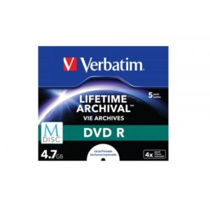 DVD-R 4.7GB Verbatim 4x M-Disc Inkjet white 5er Jewel Case 43821