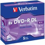 DVD+R 8.5GB Verbatim 8x 5 JC 43541
