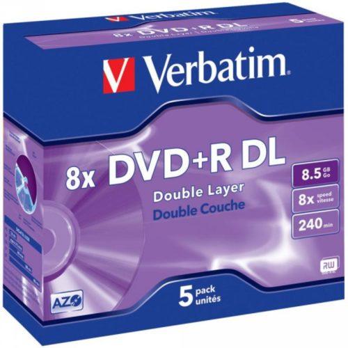 DVD+R 8.5GB Verbatim 8x 5 JC 43541