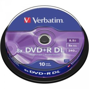 DVD+R 8.5GB Verbatim 8x DL 10 CB 43666
