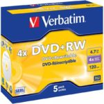 DVD+RW 4.7GB Verbatim 4x 5er Jewel Case 43229