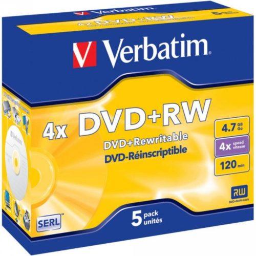DVD+RW 4.7GB Verbatim 4x 5er Jewel Case 43229