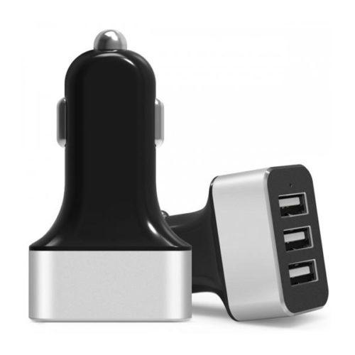 USB 12V Car Charger TRIPLE (3x USB 4.2A)