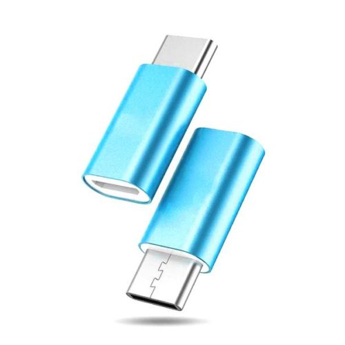 USB Type-C - USB Micro Adapter (Blue)