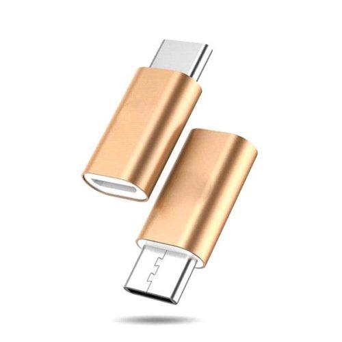 USB Type-C - USB Micro Adapter (Gold)